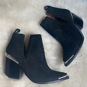 New Jeffrey Campbell Cromwell snake suede boots